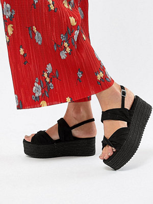 Bershka twist detail espadrille sandals