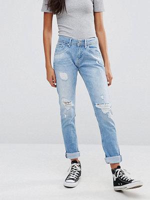 Pepe Jeans Spark Ripped Boyfriend Jeans - Denim