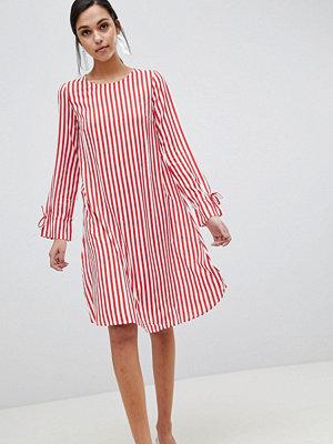 Y.a.s Trey Striped Dress - Red/white stripe