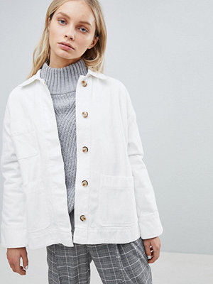Weekday Relaxed Utility Jacket - Off white