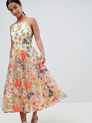 ASOS Edition Petite halter neck embroidered prom dress