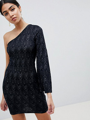 Ax Paris One Sleeve Lace Mini Dress