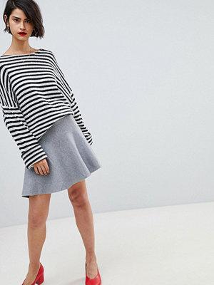 Vero Moda Peplum Hem Skirt - Medium grey melange