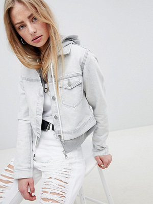 Dr. Denim Cropped Denim Jacket - Dirty white