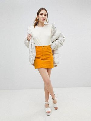 Monki Cord Mini Skirt in Mustard