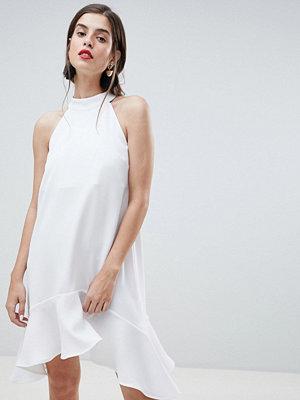 River Island Hanky Hem Swing Dress - White