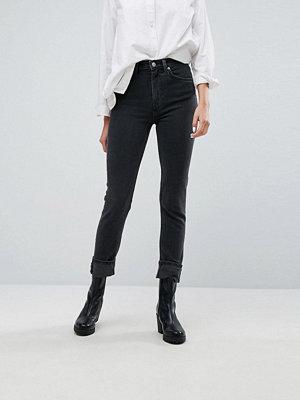 Weekday Way High Waist Slim Leg Jeans - Way great black