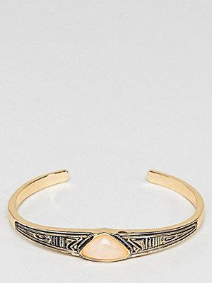 ASOS Curve armband Engraved Stone Bracelet - Gold