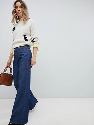 Vivienne Westwood Anglomania Wide Leg Jean in Rigid Denim