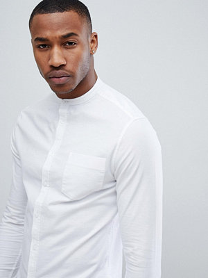 ASOS DESIGN Smart Skinny Oxford Shirt With Grandad Collar