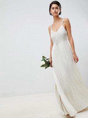ASOS Edition embellished cami wedding dress - Oyster