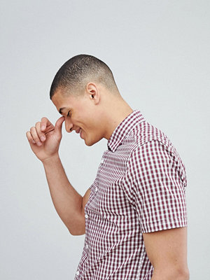ASOS DESIGN smart stretch slim check shirt