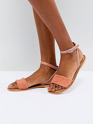 ASOS FLORENCE Leather Flat Sandals - Apricot