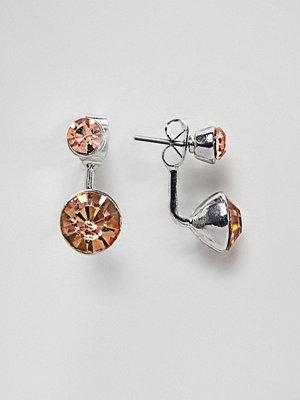 ASOS örhängen DESIGN Jewel Swing Earrings - Peach