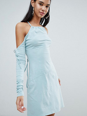 Weekday Limited Edition Rope Fringe Bodycon Dress - Light blue