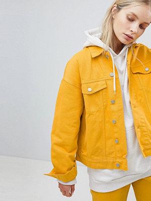 Weekday Denim Trucker Jacket - Yellow