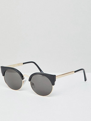 Monki cat eye sunglasses in black and gold