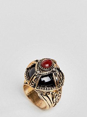 ASOS Curve ASOS DESIGN Curve Statement Dome Jewel Ring