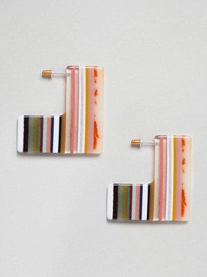 ASOS örhängen DESIGN Square Slice Resin Earrings