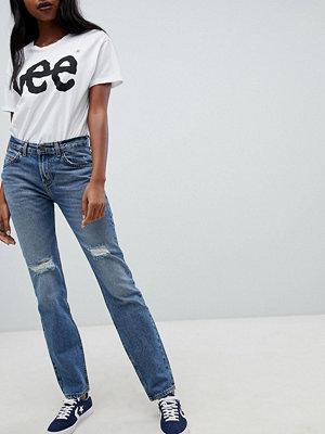 Lee 90s Rider Jeans med slitningar Nyansen Blue damage