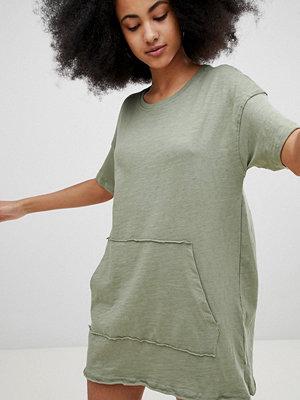 Pull&Bear Pocket Front Dress - Khaki