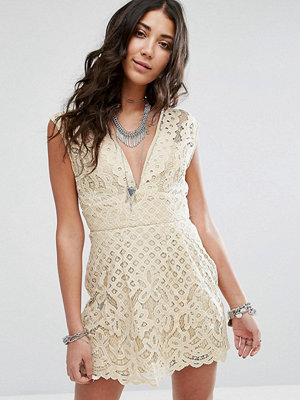 Free People One Million Love Lace Baby Doll Dress - Ivory