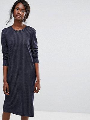 Selected Pinstripe Dress - Navy blazer