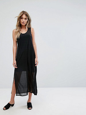 French Connection Black Celia Jersey Sleeveless Maxi Dress