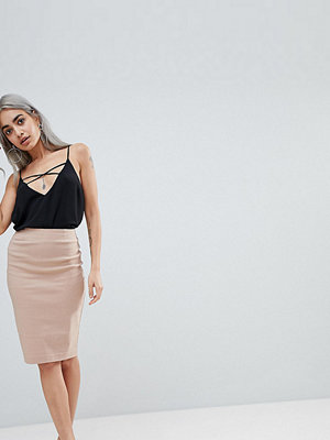 ASOS Petite ASOS DESIGN Petite high waisted pencil skirt - Cosmetic pink