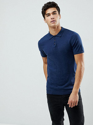 ASOS Knitted Muscle Fit Polo