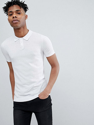 ASOS DESIGN Knitted Muscle Fit Polo