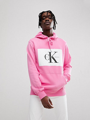 Calvin Klein Jeans Hoodie With Re-Issue Box Logo - Wild orchid