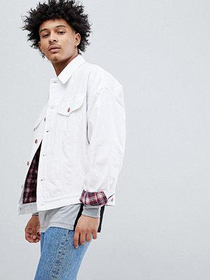 Jeansjackor - ASOS DESIGN oversized denim jacket with check