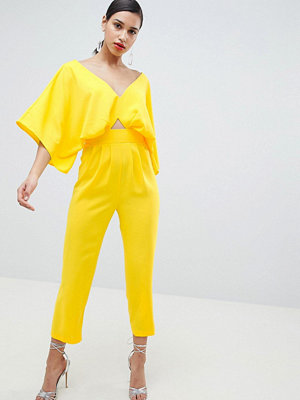 ASOS DESIGN Jumpsuit With Kimono Sleeve And Peg Leg