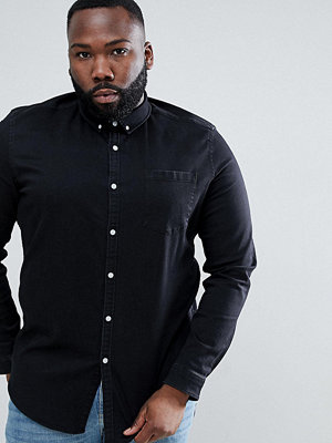 ASOS DESIGN Plus stretch slim denim shirt