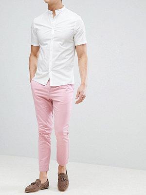 ASOS DESIGN Skinny Cropped Chinos In Pastel Pink - Blush