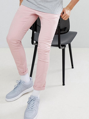 ASOS DESIGN Super Skinny Chinos In Pastel Pink - Blush