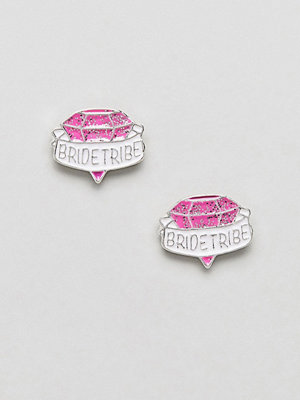 ASOS örhängen DESIGN Hen Bride Tribe Stud Earrings