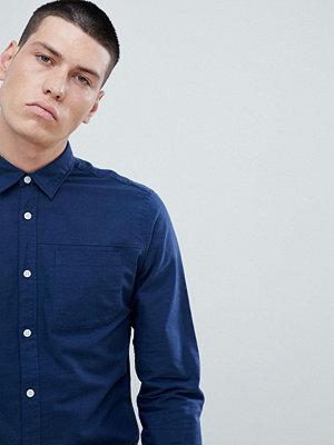 Selected Homme Slim Fit Linen Shirt - Dark sapphire