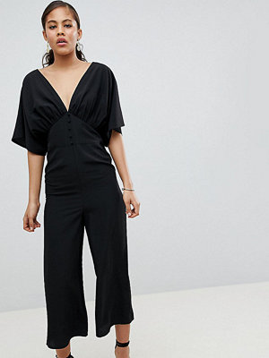 Asos Tall ASOS DESIGN Tall Tea Jumpsuit With Kimono Sleeve And Button Detail
