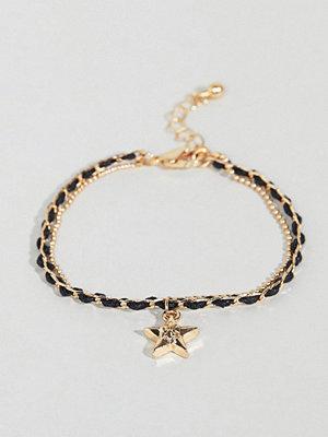 ASOS armband DESIGN Woven Chain Multirow Bracelet