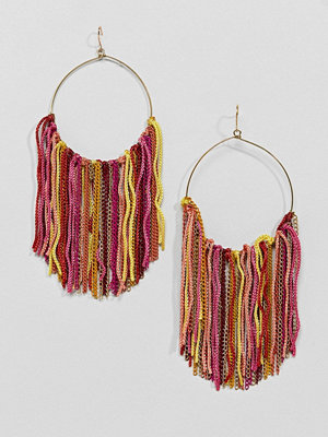 ASOS örhängen DESIGN Mixed Tassel Hoop Earrings