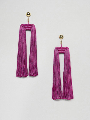 ASOS örhängen DESIGN Statement Double Tassel Earrings