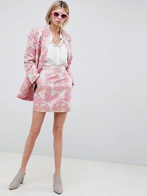 ASOS DESIGN floral jacquard mini skirt - Floral