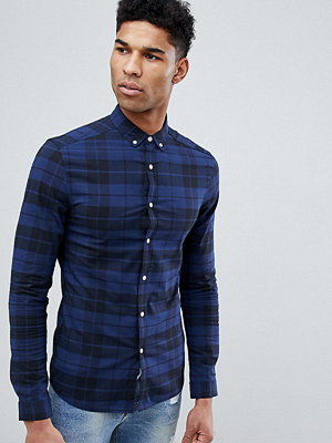 ASOS DESIGN Tall Skinny Check Shirt