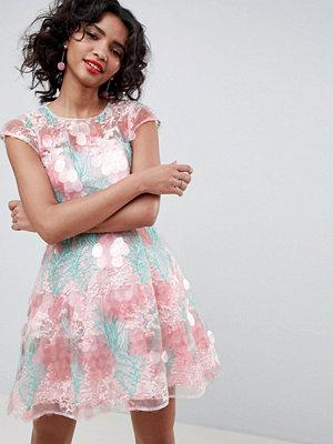 ASOS Edition Sequin Flower Skater Mini Dress