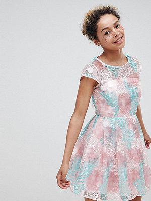 ASOS Edition petite sequin flower skater mini dress