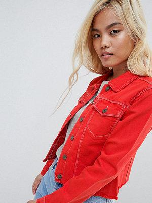 Jeansjackor - Brave Soul Petite Harris Raw Coloured Denim Jacket