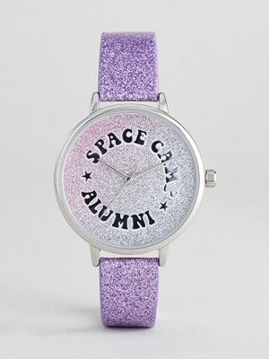 ASOS DESIGN Iridescent Space Camp Watch
