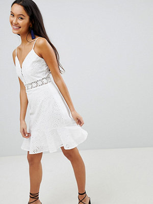 Parisian Broderie Cami Dress With Frill Hem
